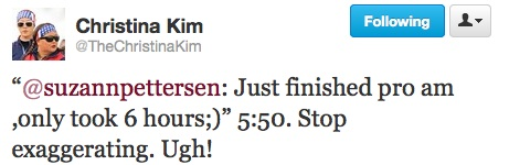 Christina Kim reply to Pro-Am