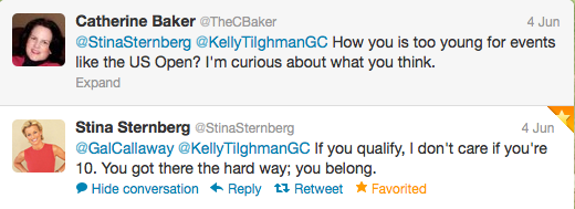 Twitter conversation with Stina Sternberg