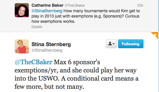 Image of Twitter Conversation with Stina Sternberg
